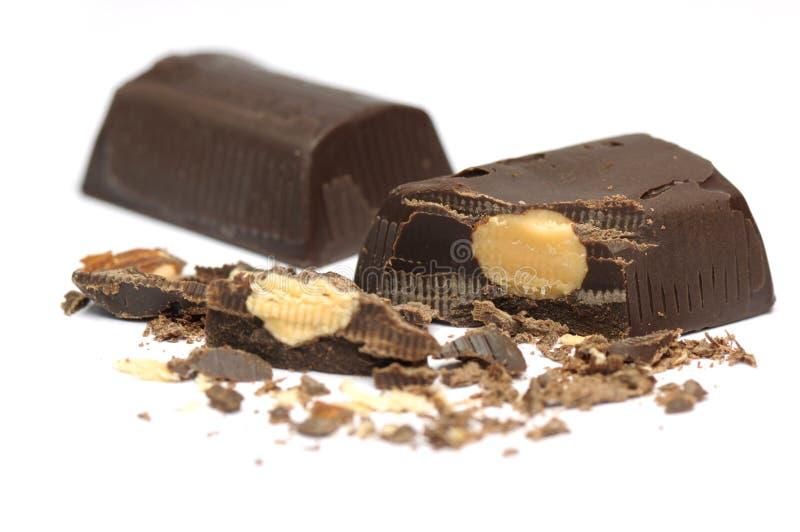 шоколад штанги миндалины стоковое изображение