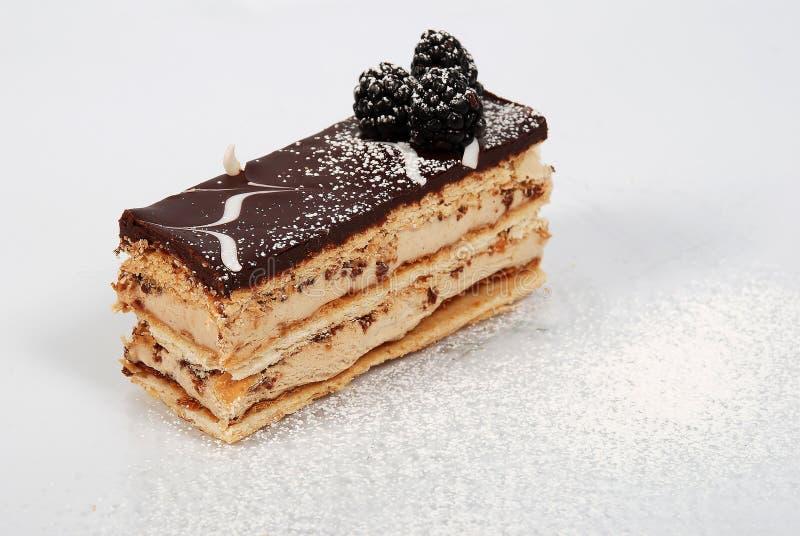 шоколад 3 тортов flaky стоковые изображения