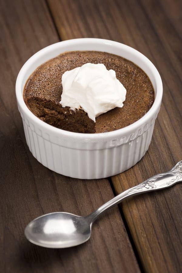 Шоколад Бак de Creme или испеченный заварной крем стоковые фотографии rf