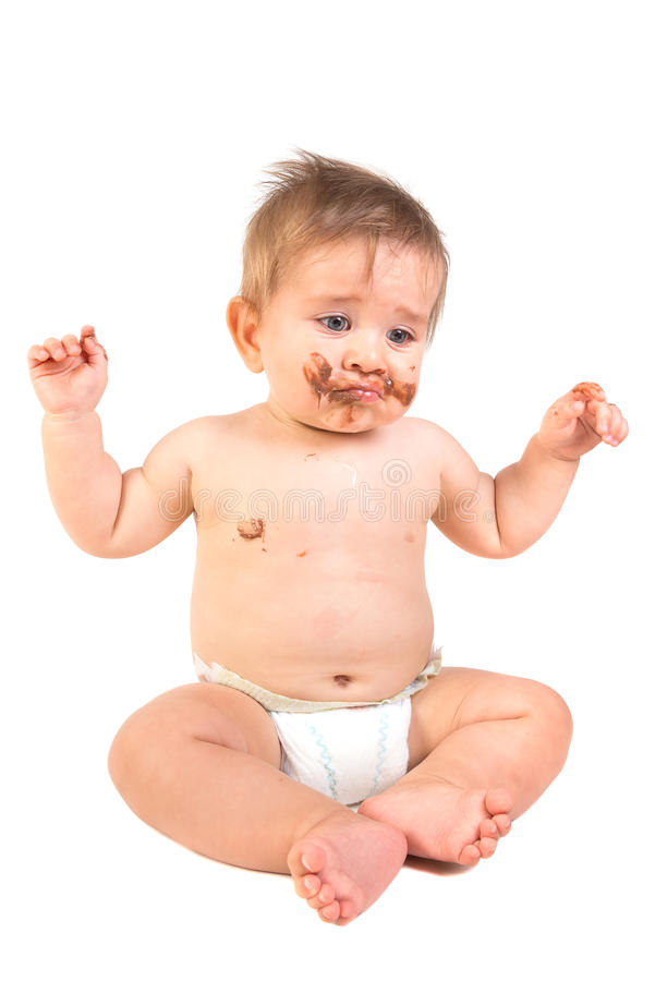 шоколад младенца стоковая фотография rf