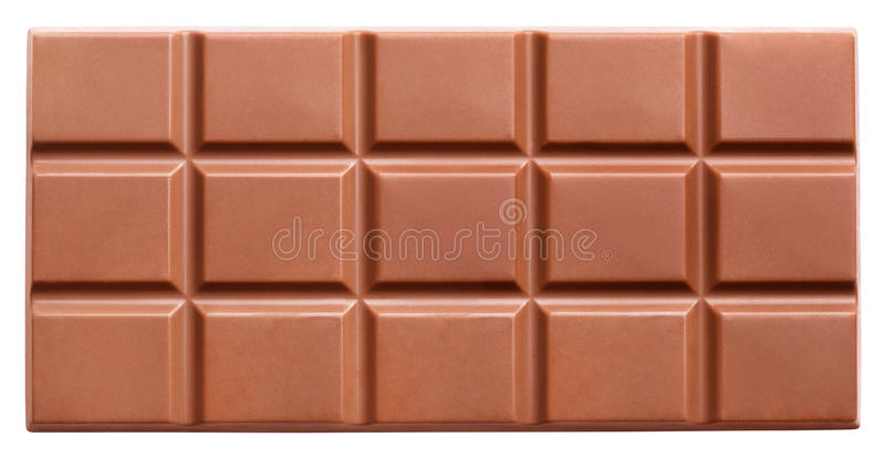 Шоколадный батончик молока изолированный на белизне стоковая фотография