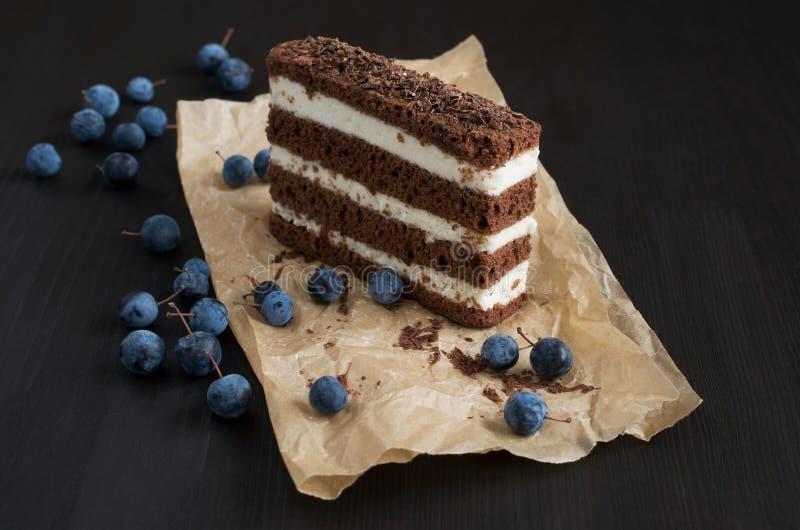 Шоколадный торт и терновник стоковое фото