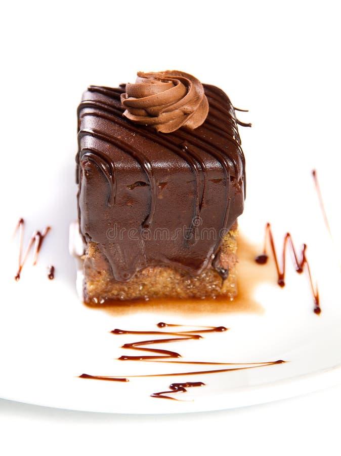 Download Шоколадный торт стоковое фото. изображение насчитывающей сливк - 37927608