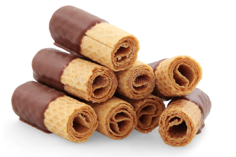 шоколад свертывает вафлю стоковые изображения rf