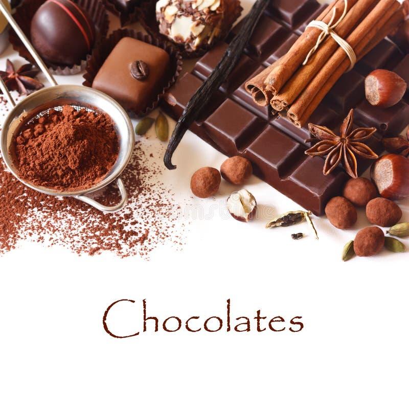 Шоколады. стоковые изображения