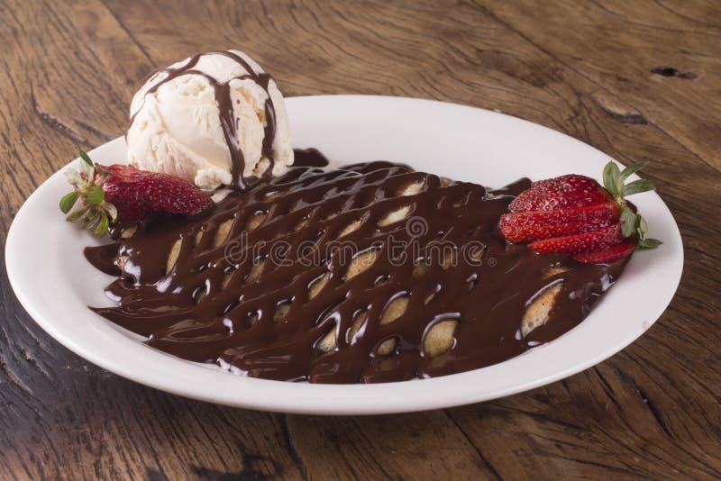 Шоколад Creppe стоковые фотографии rf