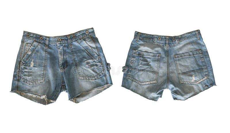 Шорты джинсовой ткани для женщины стоковые изображения
