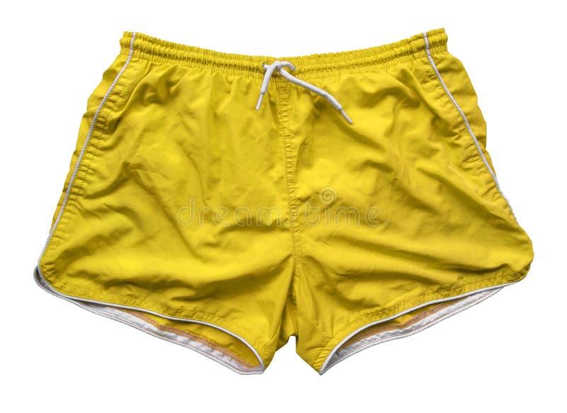 Шорты заплывания - желтый цвет стоковое изображение rf
