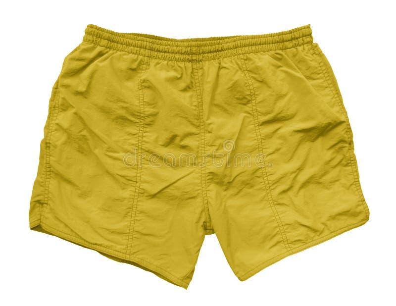 Шорты заплывания - желтый цвет стоковые фотографии rf