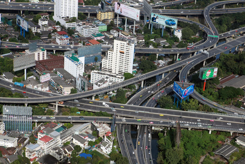 Шоссе в Бангкоке стоковое изображение