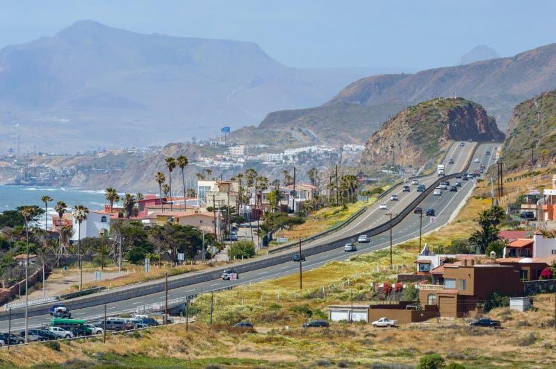 Шоссе 1 Мексики, Нижняя Калифорния, Semana Санта стоковые изображения