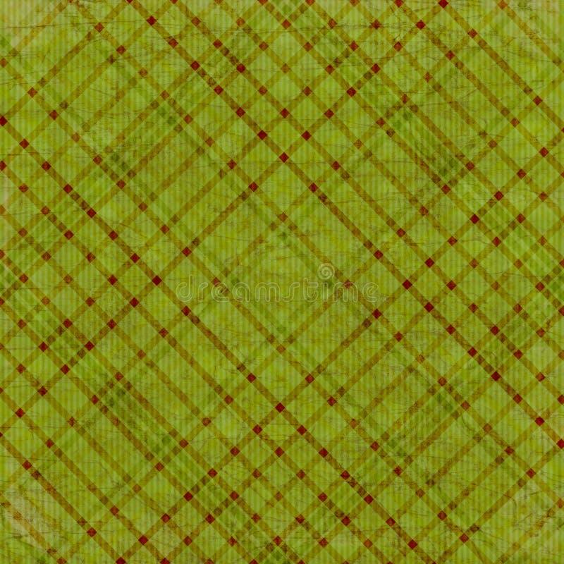 шотландка зеленой оливки предпосылки иллюстрация вектора