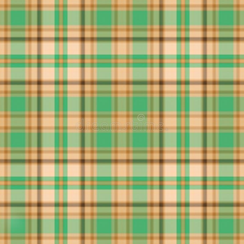 шотландка золота зеленая иллюстрация вектора