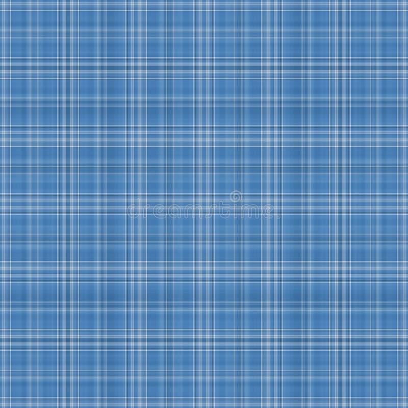 шотландка предпосылки голубая безшовная иллюстрация вектора