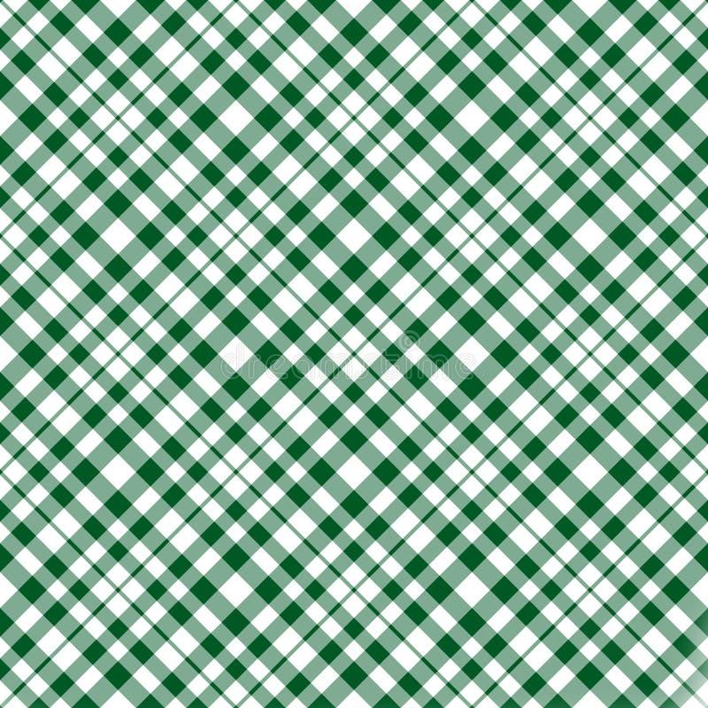 шотландка предпосылки зеленая иллюстрация вектора
