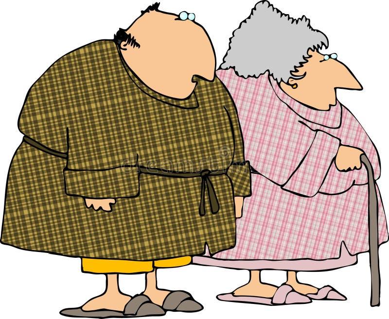 шотландка bathrobes бесплатная иллюстрация
