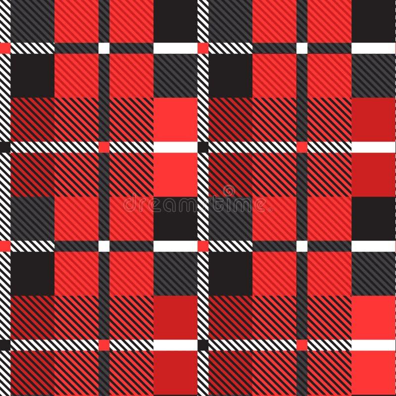 Шотландская безшовная картина r иллюстрация вектора