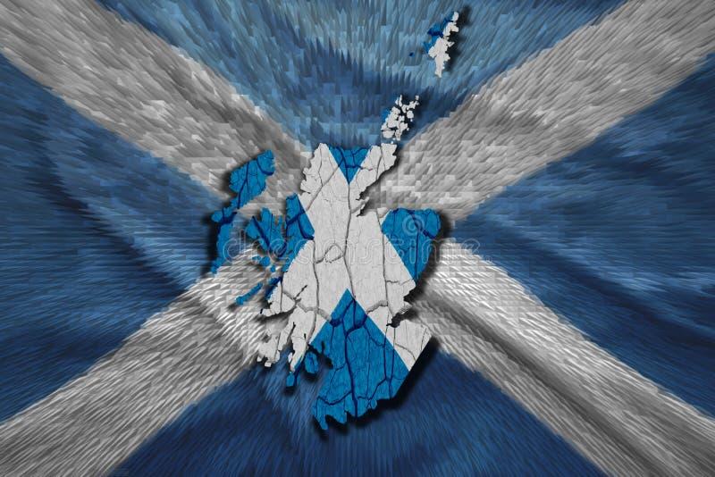 Шотландская карта бесплатная иллюстрация