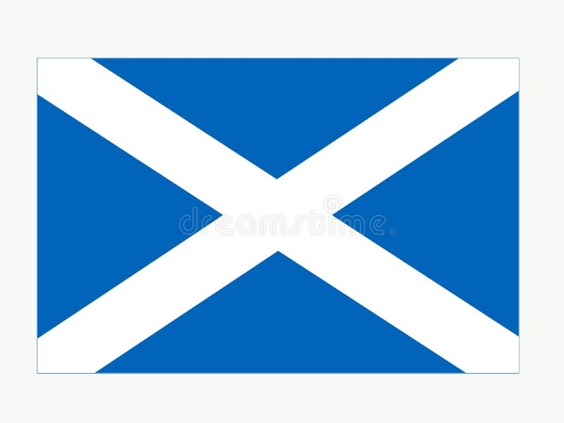 Шотландская эмблема флага Шотландии иллюстрация вектора