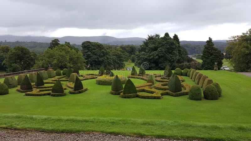 Шотландские сады имущества стоковая фотография rf