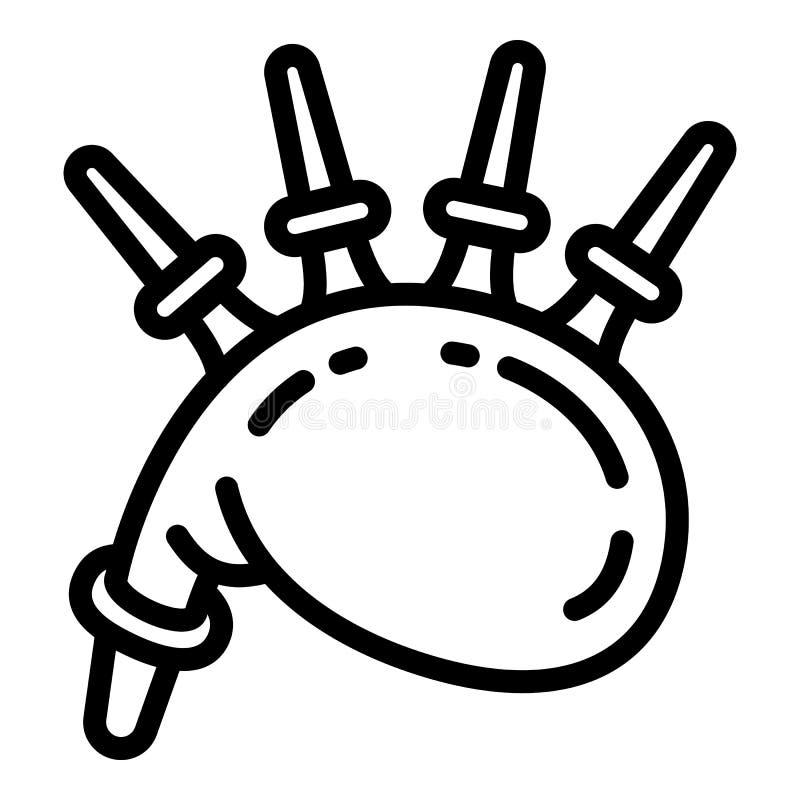Шотландский значок волынок, стиль плана иллюстрация вектора