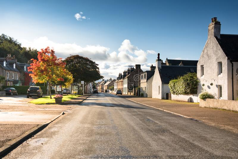 шотландское село стоковое изображение rf