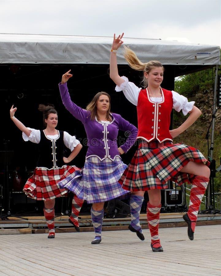 Шотландские танцоры стоковые изображения