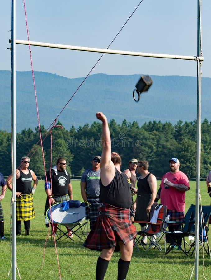 Шотландский вес для игры гористой местности †высоты «, Салем, VA стоковые фото