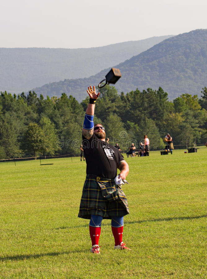 Шотландский вес для игры гористой местности †высоты «, Салем, VA стоковое изображение rf