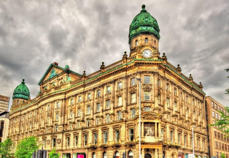 Шотландское предусмотрительное заведение, историческое здание в Белфасте - стоковое фото rf