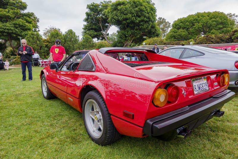 Шоу автомобиля вентиляторов Феррари стоковое изображение rf
