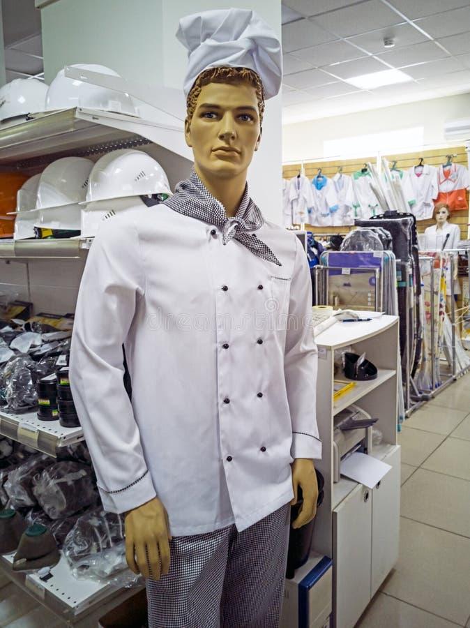 Шоу манекена одевают повара стоковое изображение