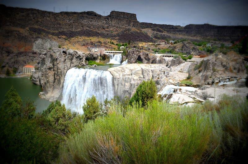 Шошон падает в Twin Falls, Айдахо стоковая фотография rf
