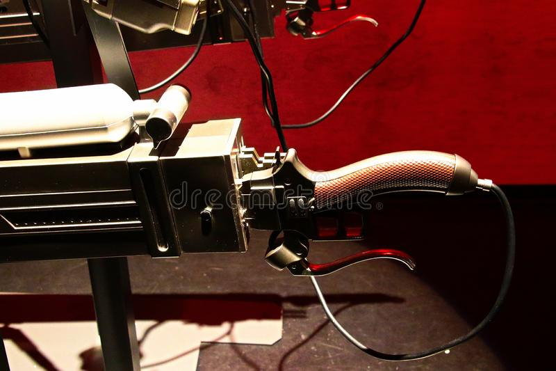 Шпага шестерни маневра и мобильное устройство 3D от нападения на титан Shingeki отсутствие kyojin стоковая фотография