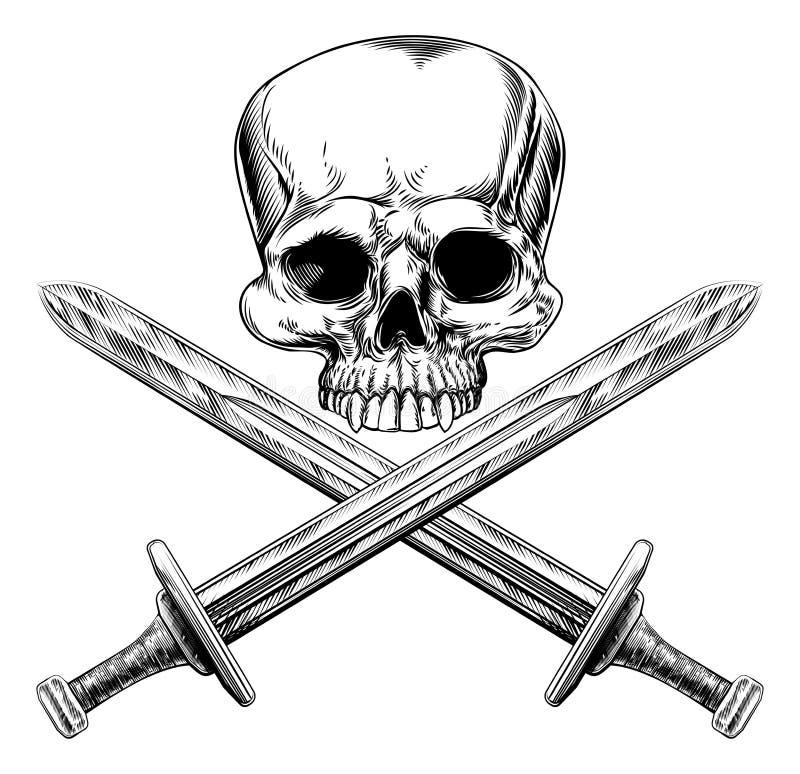 Шпаги черепа и креста бесплатная иллюстрация