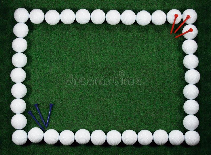 шпеньки гольфа рамки шариков стоковое изображение