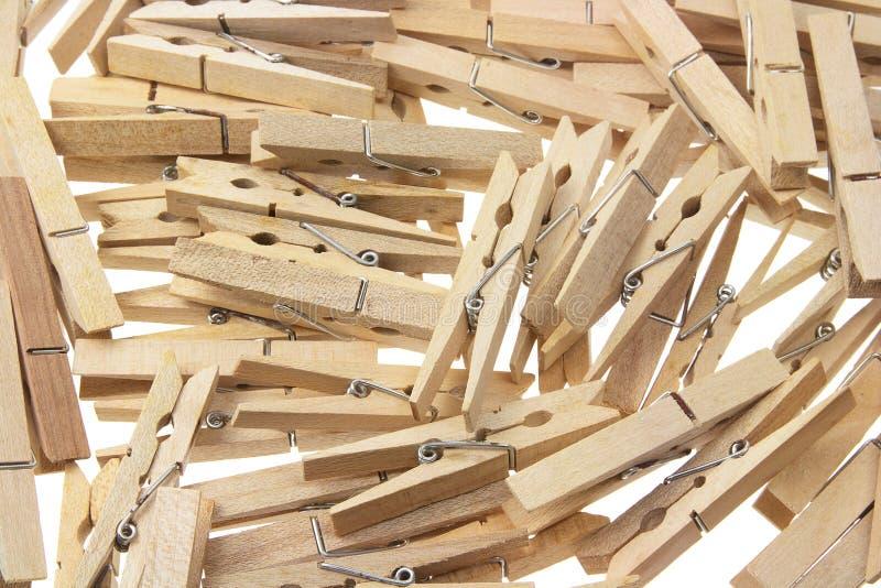 шпеньки одежд деревянные стоковое фото