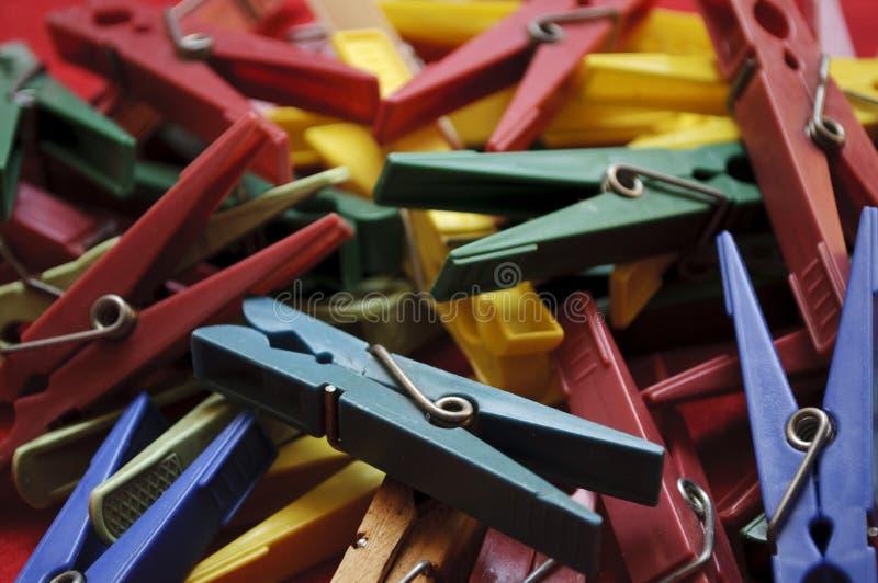 Шпеньки одежд стоковая фотография rf