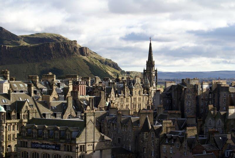 Шпиль кирки Tron в старом городке в Эдинбурге стоковое изображение rf