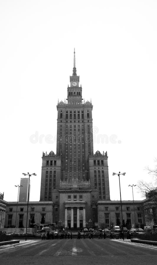 Шпиль Польша часов башни театра здания стоковое изображение rf