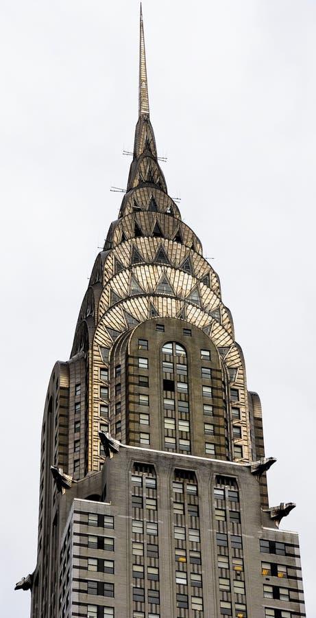 шпиль chrysler здания стоковая фотография rf