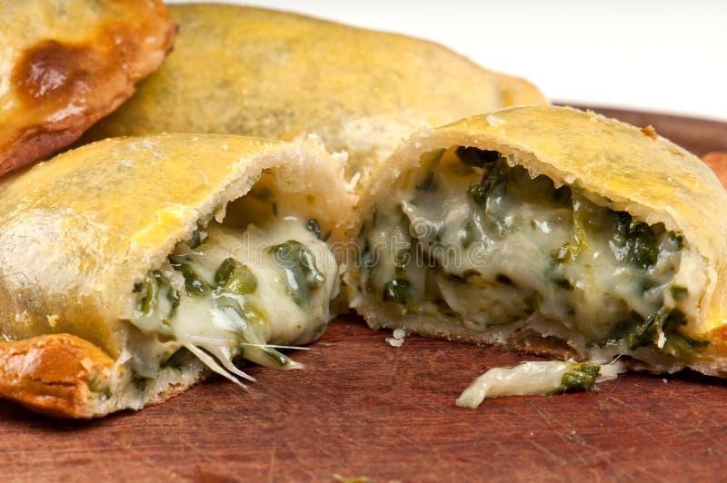 шпинат empanada стоковые фотографии rf