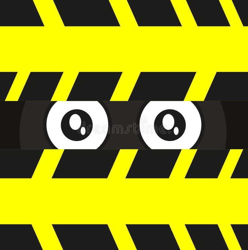 шпионка глаза иллюстрация штока
