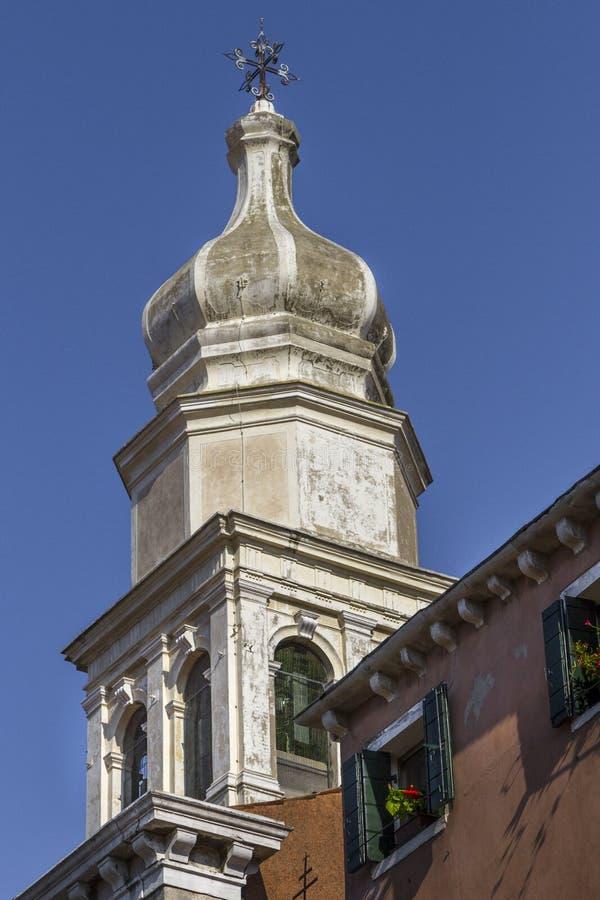Шпиль церков в Италии стоковые изображения rf