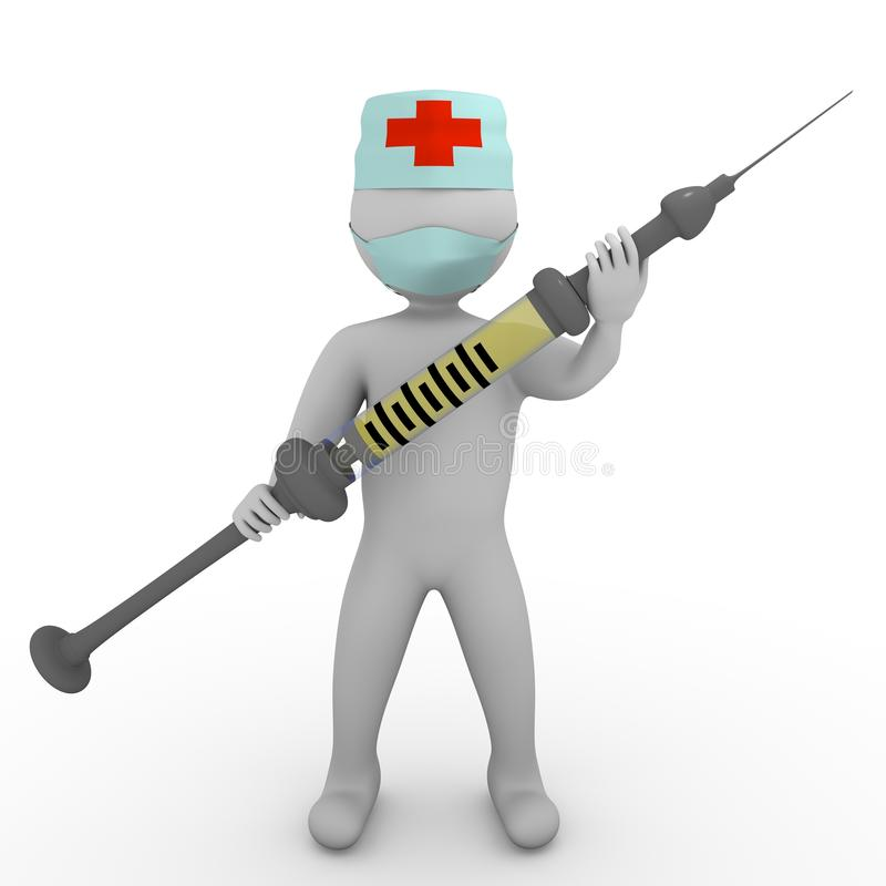 шприц врача человека стоковые фото