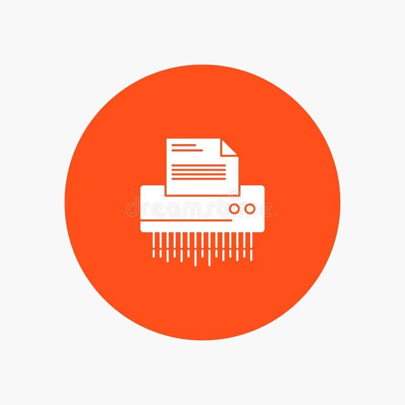 Шредер, конфиденциальный, данные, файл, информация, офис, бумага иллюстрация штока