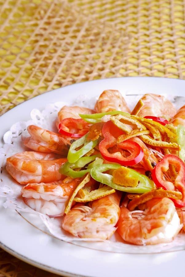 шримс еды фарфора вкусный стоковые изображения rf