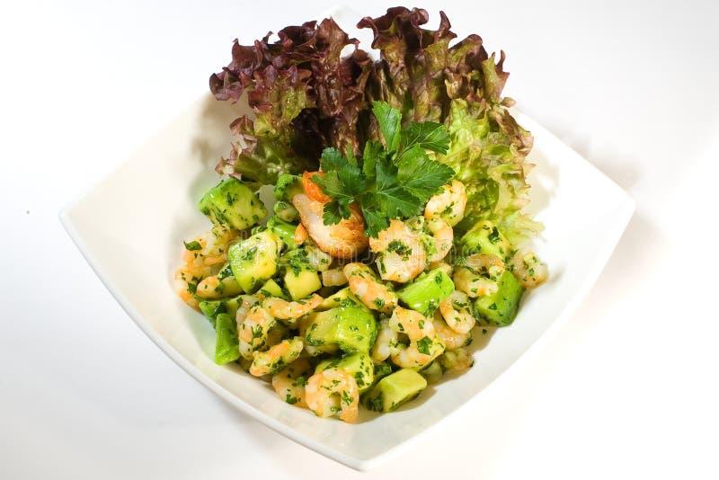 шримс салата авокадоа стоковое изображение rf