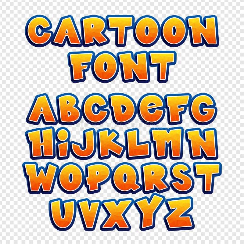 Шрифт вектора мультфильма иллюстрация штока