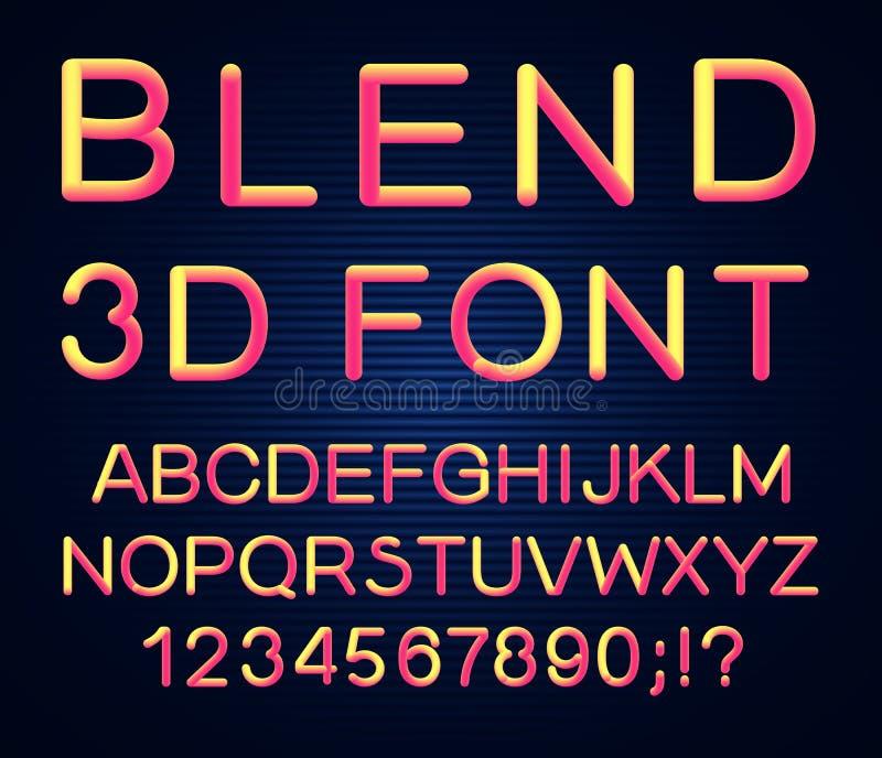 шрифт вектора 3d иллюстрация штока